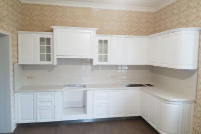 классическая, белая, кухня, на заказ Тверь, искусственный камень