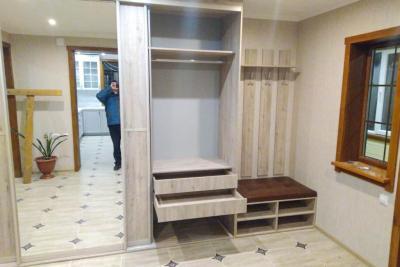 встроенные шкафы в прихожую по размерам